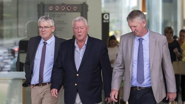 Neill, John and Denis Wagner leave the Supreme Court last week. Picture: Glenn Hunt