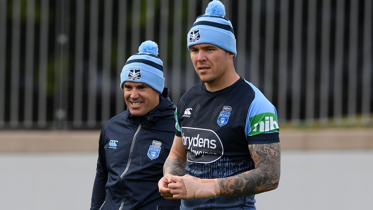 David Klemmer will have to wear strapping on his injured wrist during Origin III.