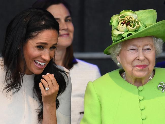Meghan and the Queen are believed to get along well.