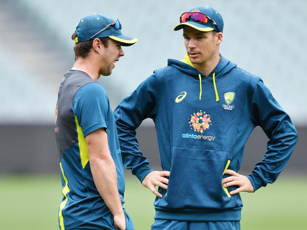 Travis Head and Peter Handscomb appear to be battling for a spot in the first Test.
