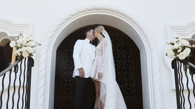 Stefanovic's extravagant wedding to Jasmine Yarbrough generated more negative publicity. Picture: One & Only Palmilla Resort