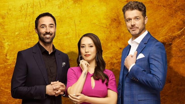 New MasterChef Australia judges Andy Allen, Melissa Leong and Jock Zonfrillo. Supplied by Channel 10.