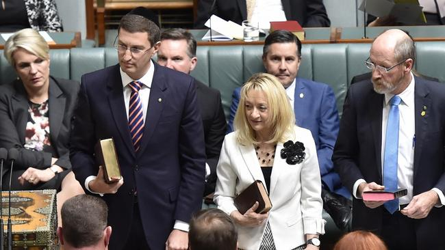 New Berowra MP Julian Leeser is sworn in to Parliament where he wants to institute caring and awareness about depression.