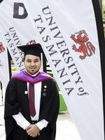 Kahled Alhefeiti at the UTAS Graduation at Launceston. PICTURE CHRIS KIDD