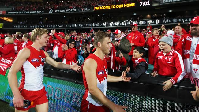 The Sydney Swans have more than 1.2 million supporters. Picture. Phil Hillyard