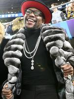Boxer Floyd Mayweather Jr. looks on during Super Bowl LII between the New England Patriots and the Philadelphia Eagles at U.S. Bank Stadium on February 4, 2018 in Minneapolis, Minnesota. Picture: Getty Images
