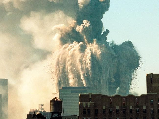 The World Trade Centre collapses on September 11, 2001. Picture: Alamy