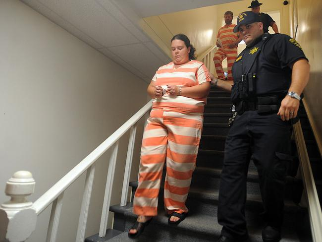 Arrest ... deputies from the St. Lawrence County Sheriff's Department escort Nicole F. Vaisey and Stephen M. Howells II to their arraignment on first-degree kidnapping charges at Fowler Town Court in Fowler, New York. Picture: AP/Watertown Daily Times