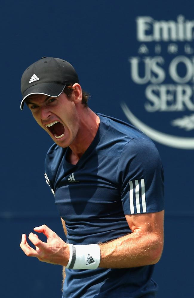 Andy Murray couldn't contain his frustration against Jo-Wilfried Tsonga.