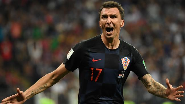 Croatia striker Mario Mandzukic will need to repeat his semi-final heroics against France in the final. Picture: AFP Photo/Yuri Cortez
