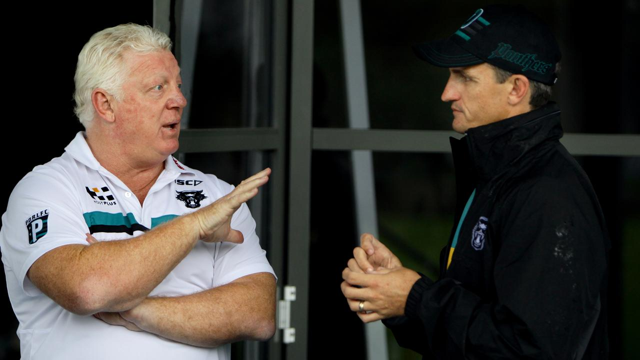 Phil Gould and Ivan Cleary have maintained they have a good relationship since reuniting at the Panthers.