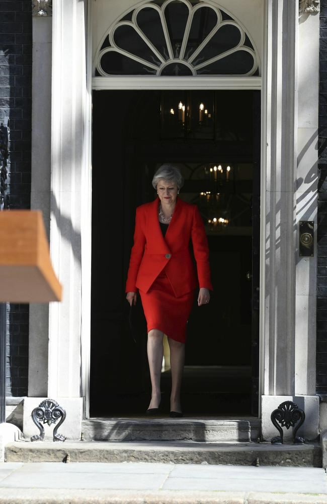 Mrs May said she would 'always regret' not being able to deliver Brexit. Picture: Yui Mok/PA via AP