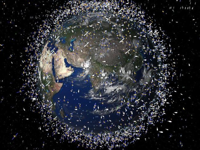 Thousands of objects are currently in orbit around the Earth.