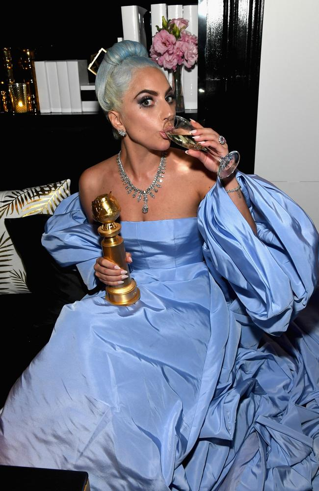 Lady Gaga with her Golden Globe for Best Original Song. She lost Best Actress in a Motion Picture - Drama to Glenn Close. Picture: Getty Images for InStyle