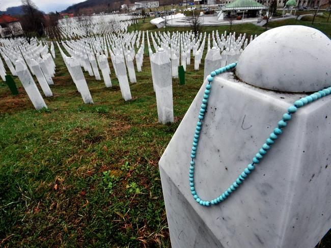 The Srebrenica memorial cemetery in Potocari, where many victims are buried. Picture: AFP