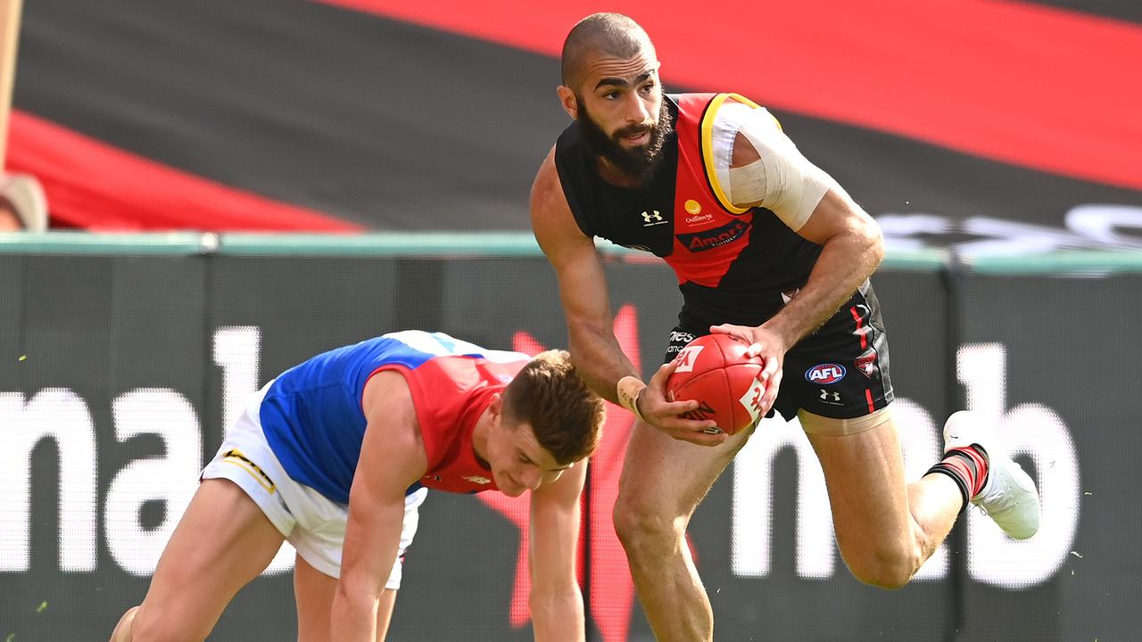 If Adam Saad joins Carlton, it should earn the Bombers a first-round pick in return, at least. (Photo by Quinn Rooney/Getty Images)