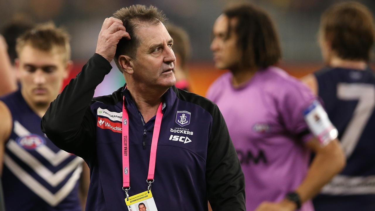 Former Fremantle coach Ross Lyon's call over coaching staffs has been questioned. (Photo by Paul Kane/Getty Images)