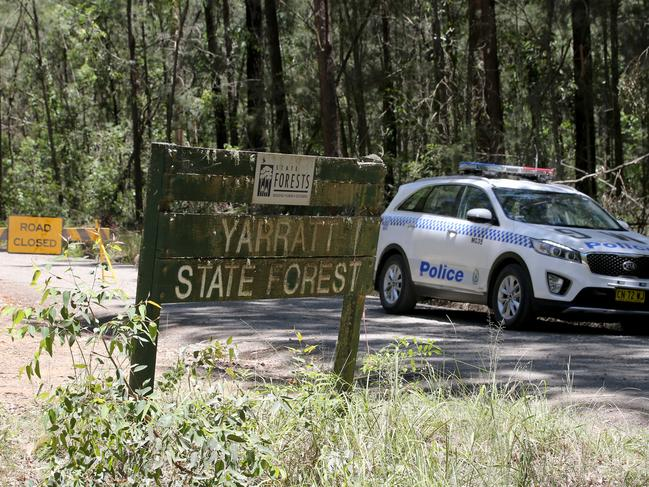 Police cordoned off Yarratt Road in Upper Landsdowne, where a man was discovered in Taree in a separate incident. Picture: Nathan Edwards