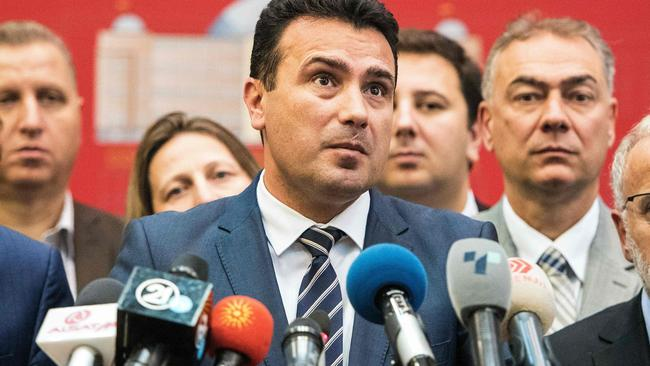 Macedonian Prime Minister Zoran Zaev secured the two-thirds supermajority to kickstart the process of changing Macedonia's name. Picture: Robert Atanasovski / AFP.