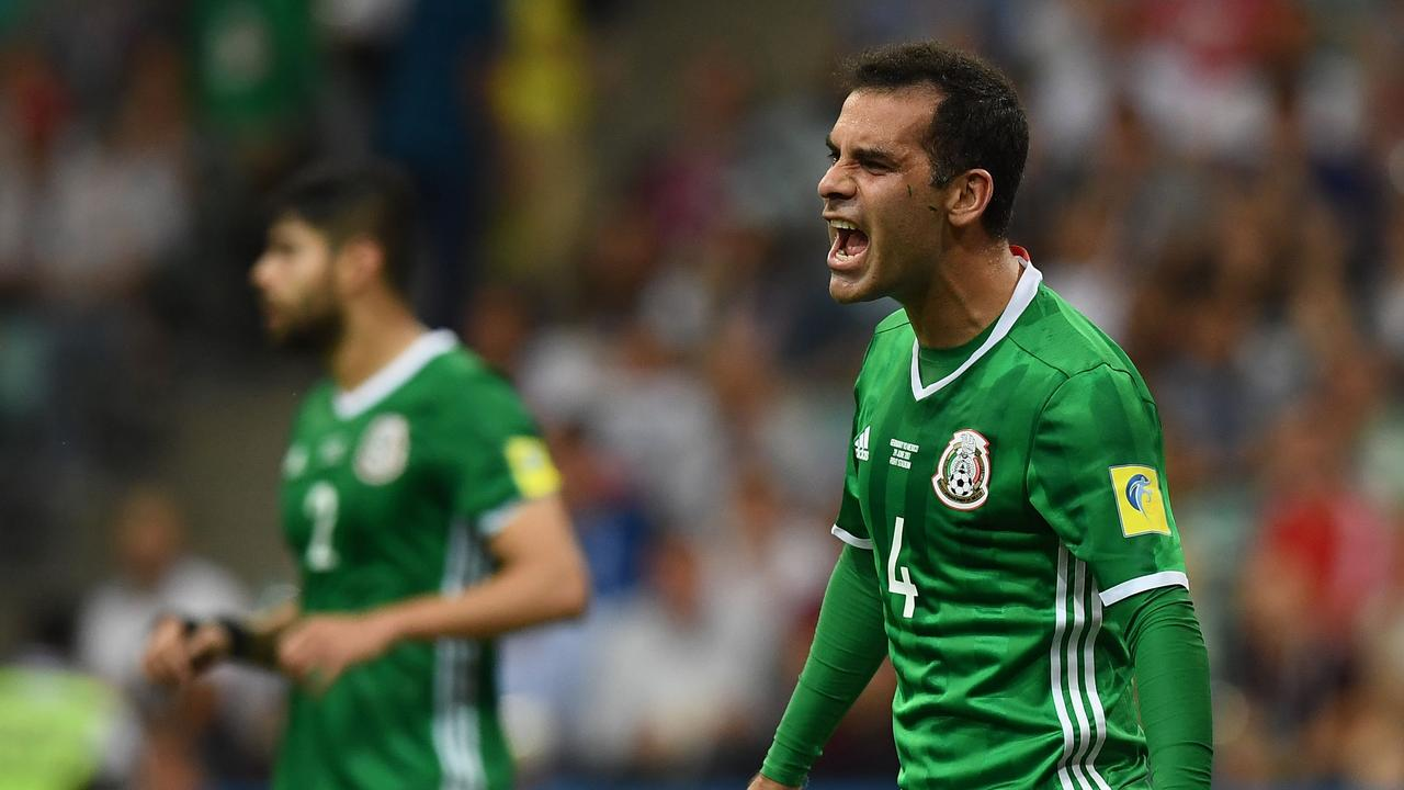 8af86616c Rafael Marquez during the 2017 Confederations Cup semi-final match between  Germany and Mexico.