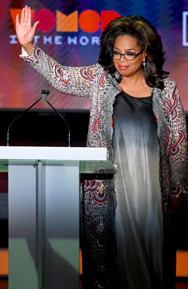 Oprah Winfrey speaks onstage at the 10th Anniversary Women In The World Summit at David H. Koch Theatre at Lincoln Center on April 10, 2019 in New York City. Picture: Mike Coppola/Getty Images.