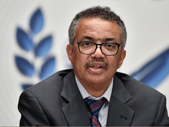 World Health Organisation (WHO) Director-General Tedros Adhanom Ghebreyesus. Picture: Fabrice Coffrini/AFP
