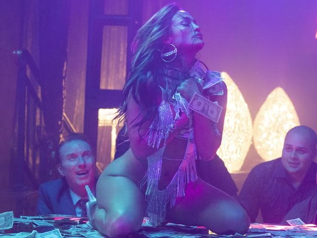 Jennifer Lopez in a scene from the movie Hustlers. Picture: Supplied