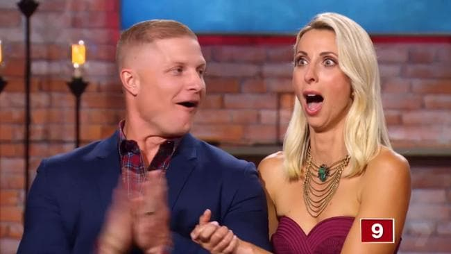Aaron and Daniella Winter were in shock when they realised they had won. Picture: Supplied / Seven