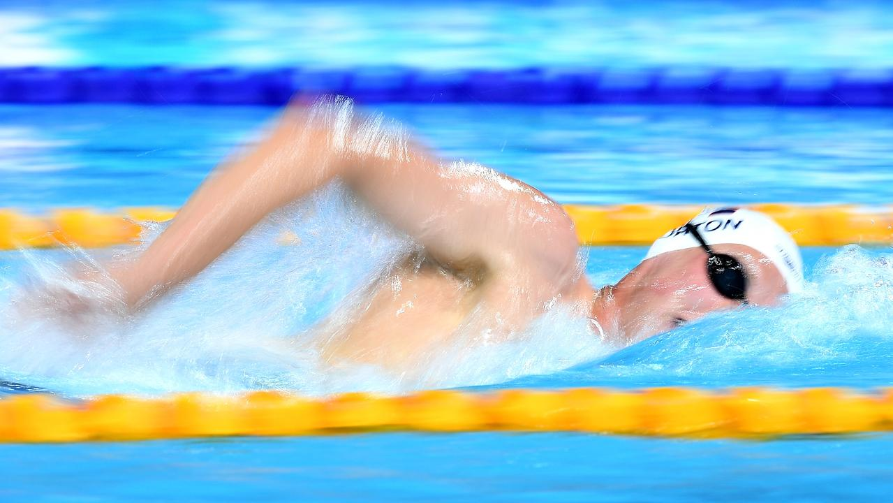 Mack Horton is hoping a bee sting doesn't slow him down in the upcoming Commonwealth Games. Picture: Getty Images