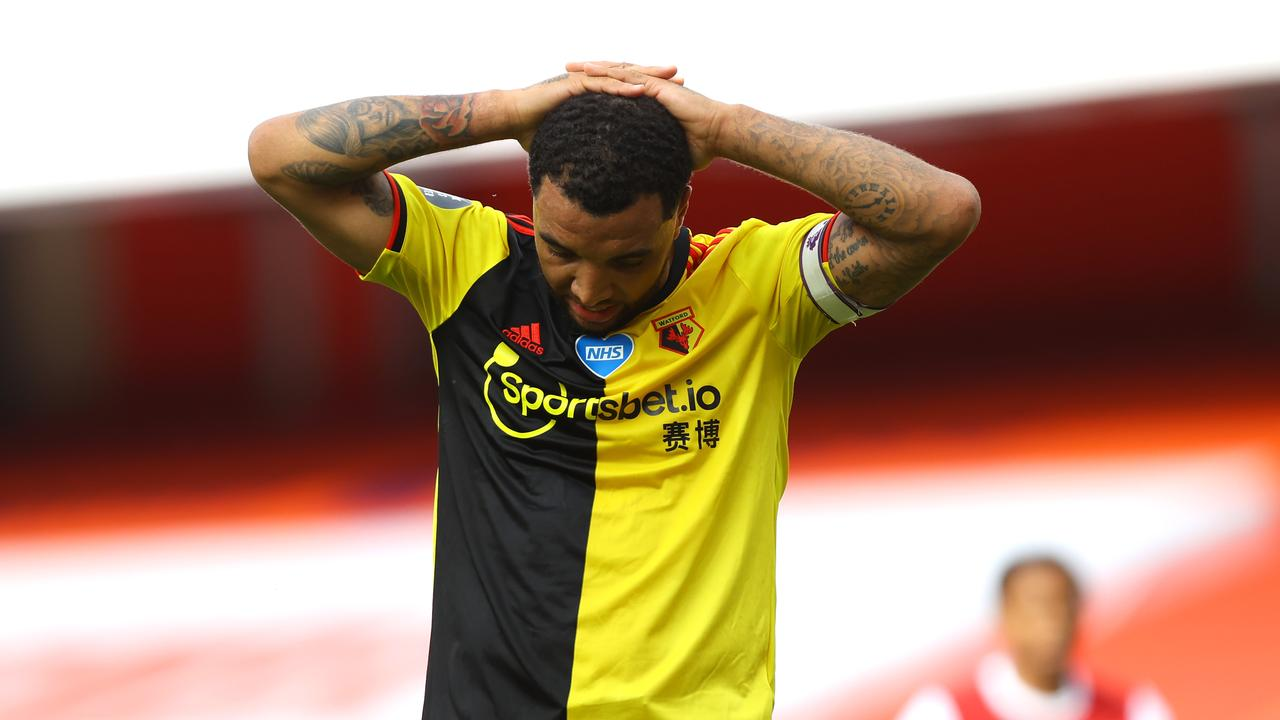 Deeney was heartbroken after the match.