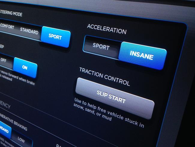 The car actually has an 'insane' mode.