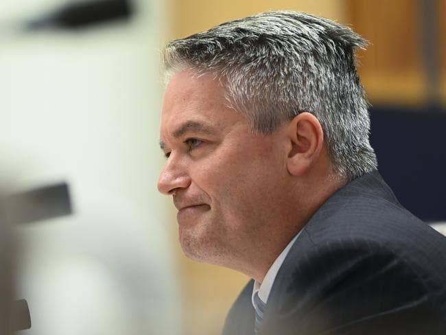 Mathias Cormann justified the spend to a Senate estimates hearing, but coudn't give a total cost figure. Picture: Lukas Coch/AAP