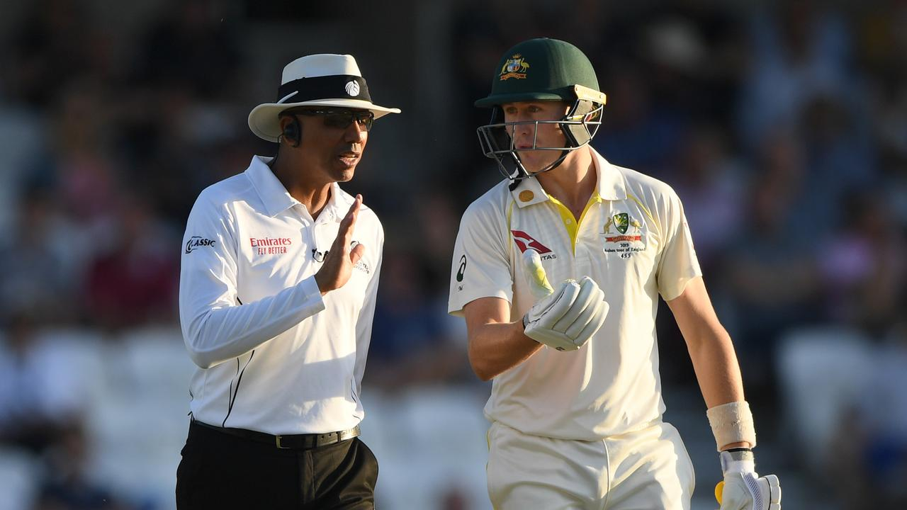 Umpire Joel Wilson's Ashes has finally been ended.