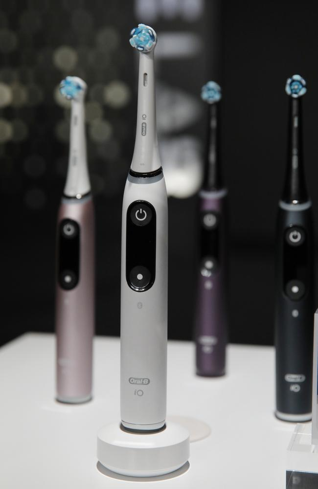 The Oral B iO smart toothbrush. Picture: AP/John Locher