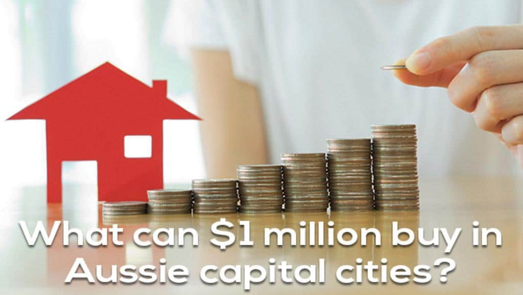 What can $1 million buy in Aussie capital cities?