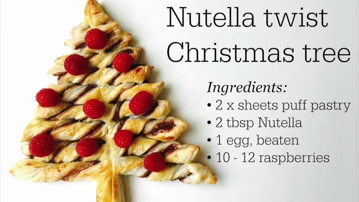 How to make a Nutella twist Xmas tree