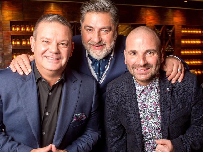 George Calombaris, Matt Preston and Gary Mehigan are leaving MasterChef after more than a decade as the show's judging panel. Picture: Supplied