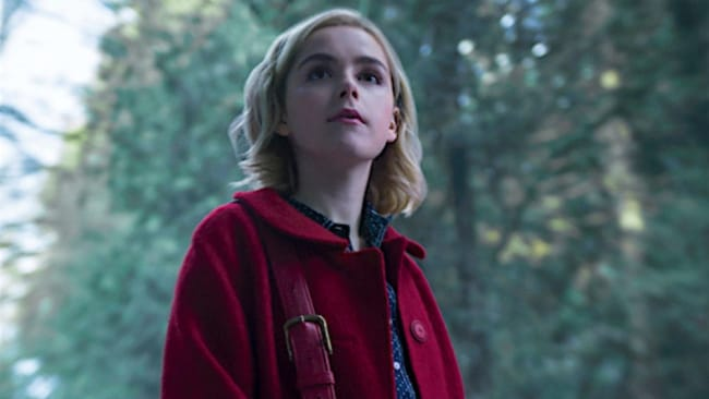 She might look cute as a button... Photo: 'The Chilling Adventures of Sabrina'