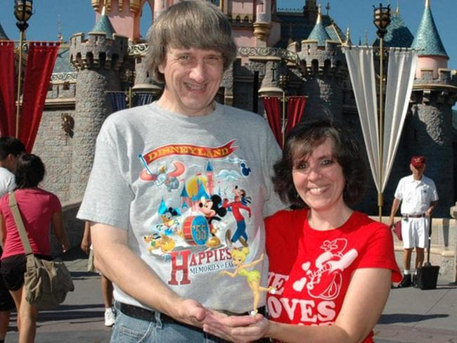 David Allen Turpin, 57, and Louise Anna Turpin, 49, at Disneyland in an. Picture: Supplied