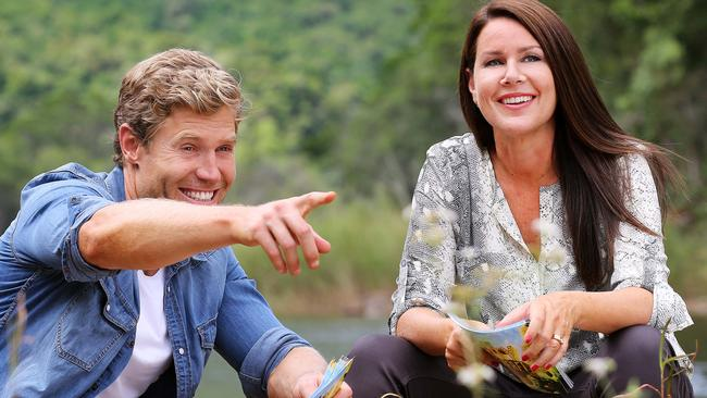 Co-star chemistry ... Julia Morris and Chris Brown spent all their off time together last year while shooting I'm a Celebrity. Picture: Supplied.