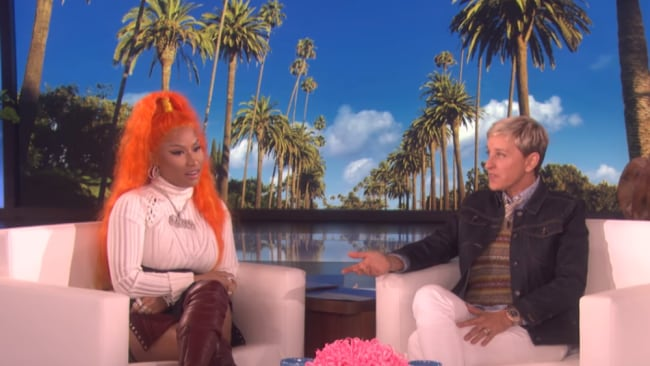 Nicki Minaj dished to Ellen on her ideal sex life. Photo: Ellen