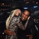 Lady Gaga and Jay Z attend the 60th Annual GRAMMY Awards at Madison Square Garden on January 28, 2018 in New York City. Picture: Getty
