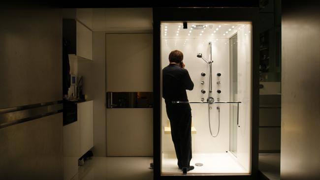The shower room doubles as a phone box. Picture: Edge Design.