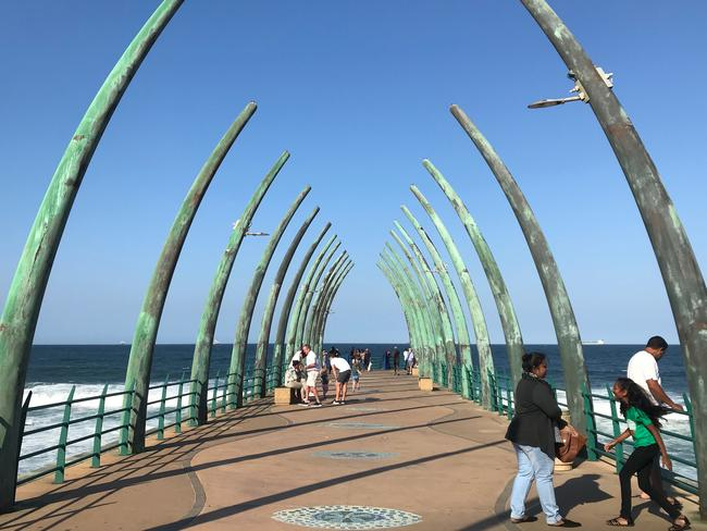 The Whalebone Pier at Umhlanga Main Beach.