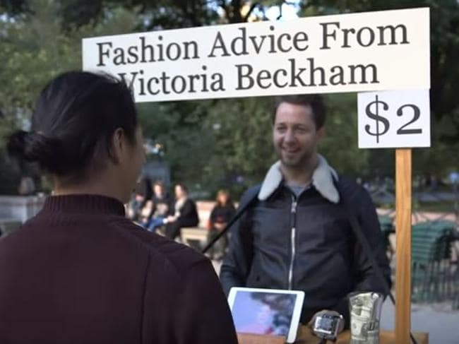 """Victoria Beckham said she would give people """"What they really, really want"""". Picture: YouTube/Vanity Fair"""
