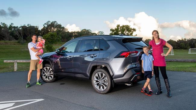 The new Toyota RAV4 is a great family vehicle.