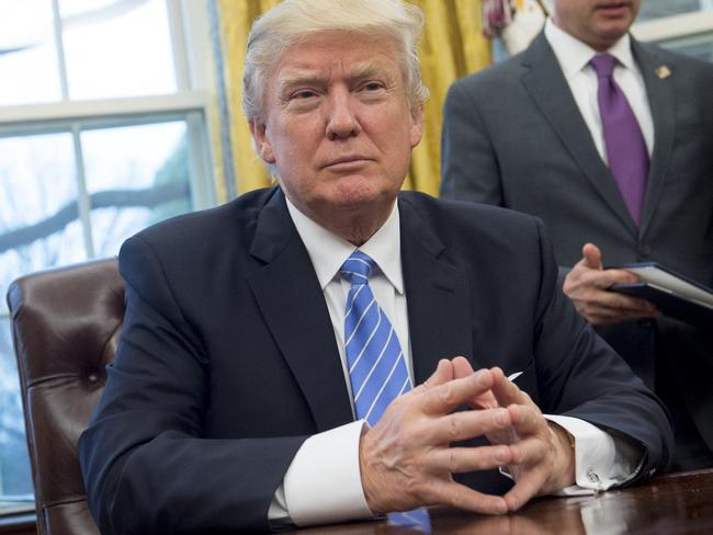 US President Donald Trump signed several executive orders on Monday including one to withdraw the US from the Trans-Pacific Partnership trade deal. Picture: Saul Loeb/AFP