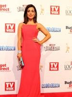 Melanie Vallejo on the red carpet at the 2015 Logie Awards at Crown Casino in Melbourne. Picture: Julie Kiriacoudis
