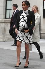 MARCH 8, 2019 - Where: London, England. Wearing: Reiss dress. Picture: Frank Augstein/AP