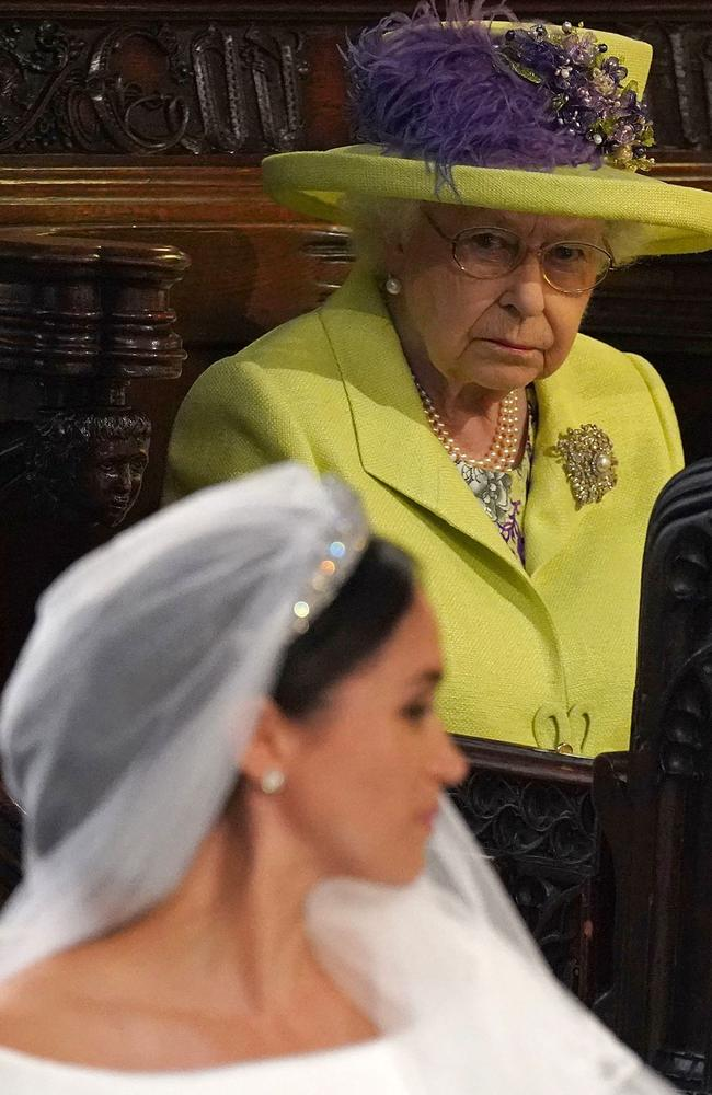 """The announcement appeared to catch Buckingham Palace off guard, with a palace statement saying discussions with Harry and Meghan were """"at an early stage"""". Picture: Jonathan Brady/AFP"""